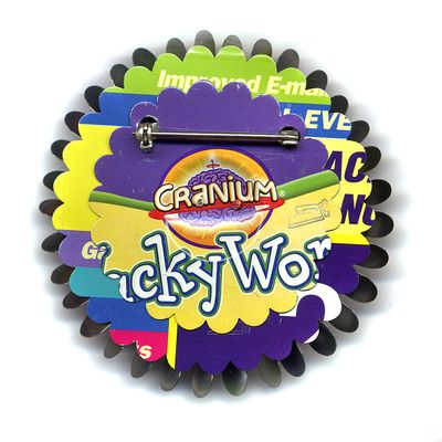 Wacky Words Flower Pin
