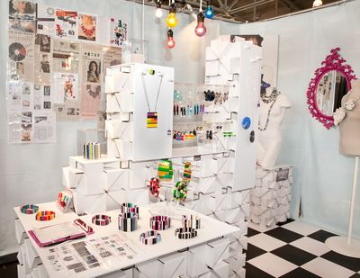 Emiko Oye booth display