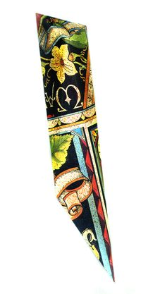 Berman Mezuzah Yellow Flower  from recycled tin cansScrollLEM