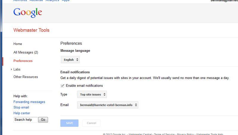 GoogleWebmasterMessages