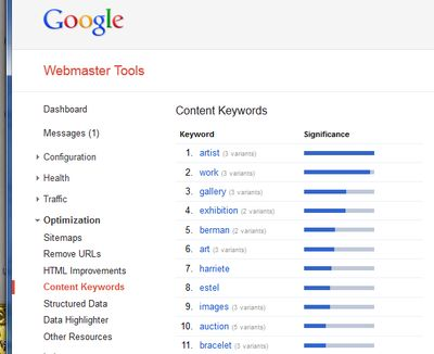 GoogleWebmasterKeyword