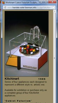 Harriete website image of Cubist Futurist KitchInArt Cuisinart applianceIcubist