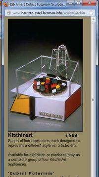 Harriete website image of Cubist Futurist KitchInArt Cuisinart applianceIcubist
