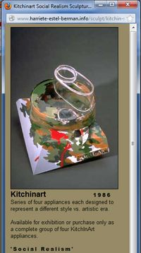 Harriete website image for Social Realism KitchInArt Cuisinart appliance sculpture