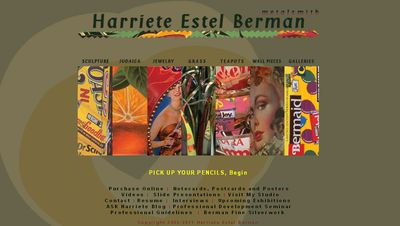 Harriete Estel Berman website HOME page