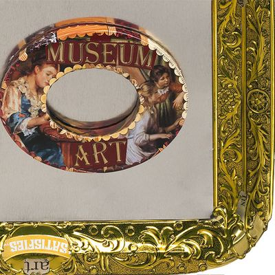 Museum Art Jewelry bracelet by Harriete Estel Berman from recycled tin cans printed with famous paintings