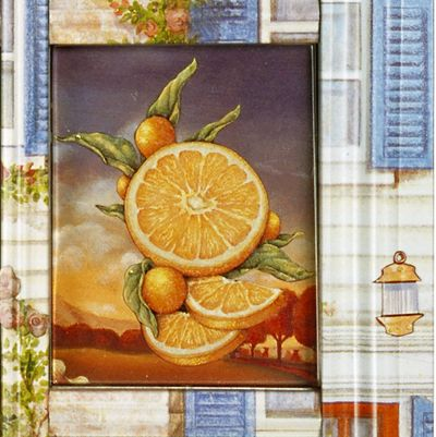Oranges on a Seder plate by Harriete Estel Berman