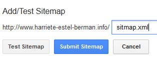 GoogleWebmasterToolsSubmittingSitemapURL