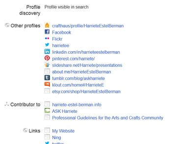 Google+ profile LINKS for Harriete Estel Berman
