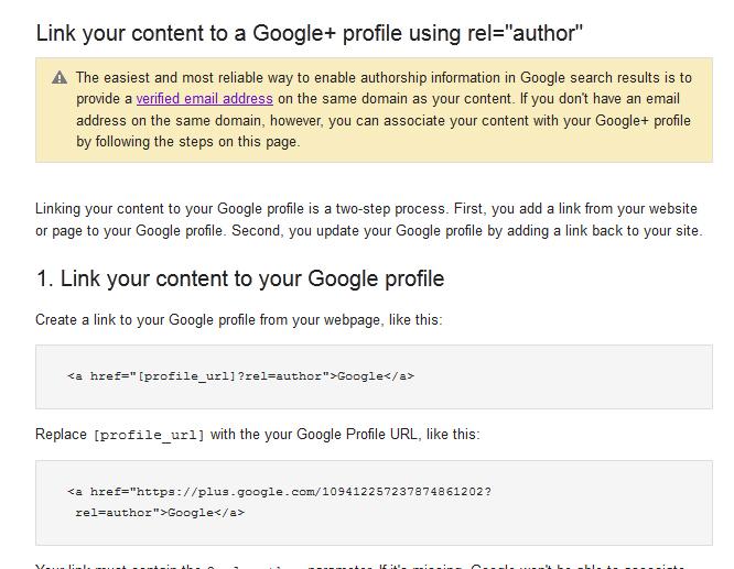 Googlerel-author-blog-option