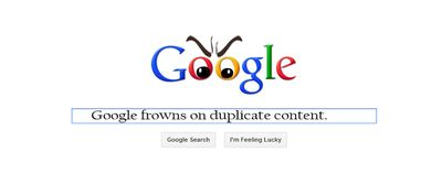 Google-FROWNS-ON-DUPLICATE-CONTENT