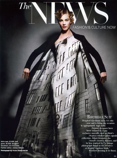 Bergdorg Goodman dress shown in Bazaar magazine 1