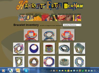 Harriete Estel Berman jewelry page of bracelets made from recycled tin cans.2