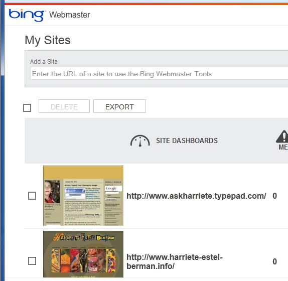BingWebmasterSITES