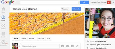 Google Plus Profile for Harriete Estel Berman