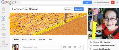 Google Plus Profile for Harriete Estel Berman