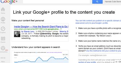 Google Authorship Link Instructions.