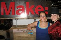 Harriete Estel Berman at Maker Faire with Aryn Shelander