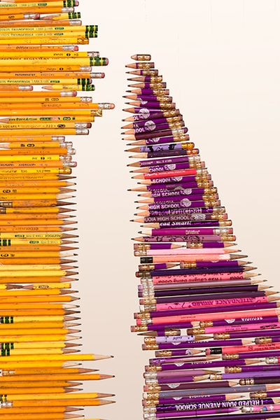 Pick Up Your Pencils, Begin an installation about standardized testing and its impact on education