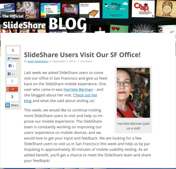 SlideShare for Exhibition Opportunities
