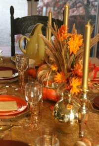 Thanksgiving 2009 with a beautiful Thanksgiving festive table.