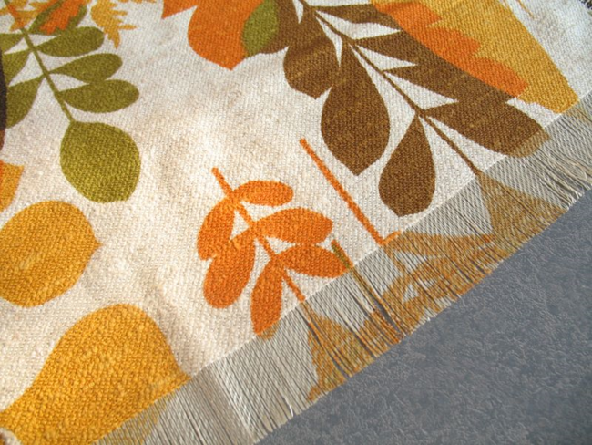 Filkauf Inherently Fire Retardant Fabric was vintage 50's 60's in fall colors