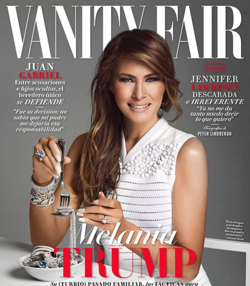 Melania-Trump-Eating- Jewelry