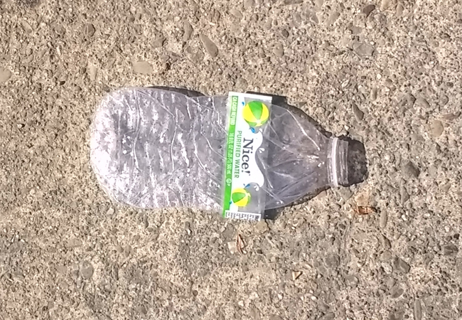 Plastic-bottle-in-street