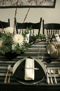 Thanksgiving in Black, Grey and Silver