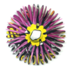 Totally-To-Point-Fuchsia Flower Pin by Harriete Estel Berman