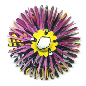 Totally-To-Point-Fuchsia Flower Pin by Harriete Estel Berman