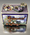 Bermaid Santa Rosa Bracelets and fruit crate display