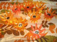 Atomic starburst plastic candlesticks from West Germany