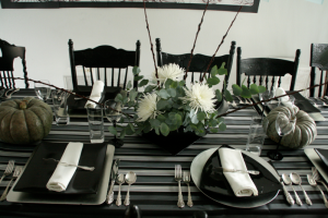black and white and grey motif for Thanksgiving 2008