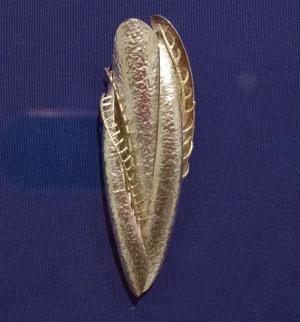 Left, 1998; Helen Shirk (US); Sterling silver