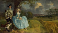 Gainsborough-Painting-Mr-Mrs-Andrews with green lawn.