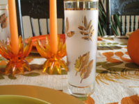 Gold leaf glasses for our  Thanksgiving 2015 037