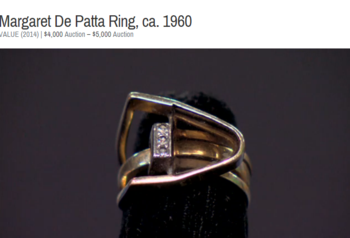 Margaret-De-Patta-ring-Antiques-Roadshow