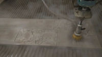 water Jet cutting of battlebot parts