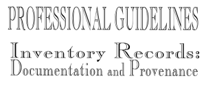 Professional-guidelines-inventory-records