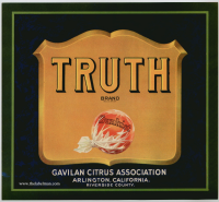 truth fruit crate label