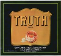 truth fruit crate label