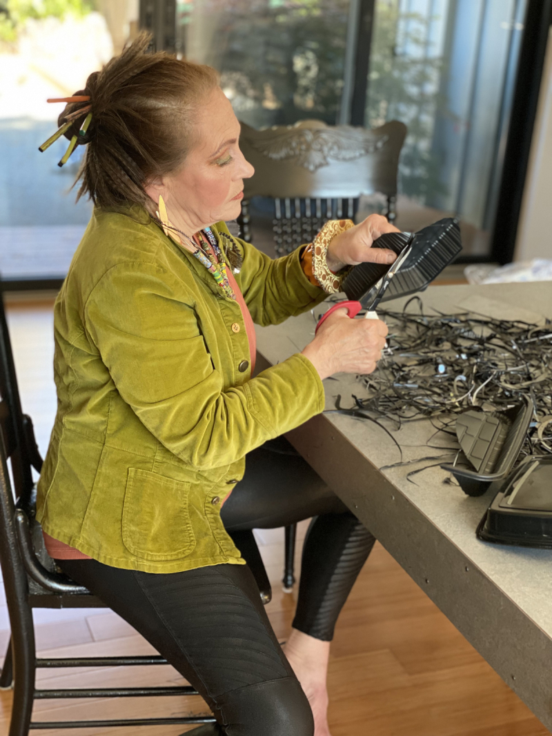Harriete-studio-cutting-black-plastic