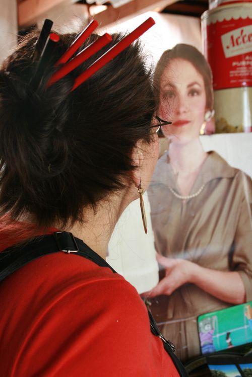 Harriete looking at Harriete